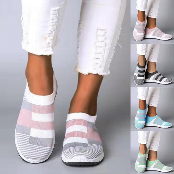 casual shoes, knitshoe, Sneakers, Plus Size