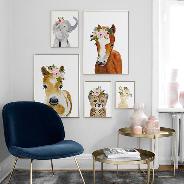 horse, art, canvaspainting, walldecoration