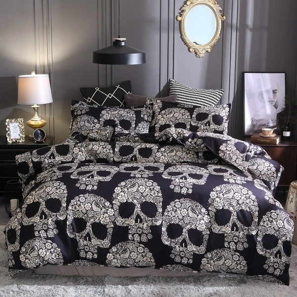 skullbedding, King, printed, pillowscase