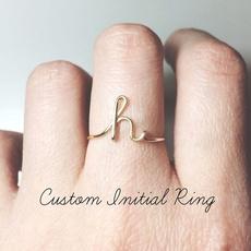Fashion, letterring, wedding ring, fashion ring