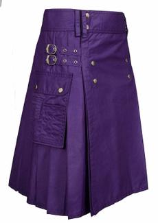 utilitykilt, Cotton, menskilt, purple