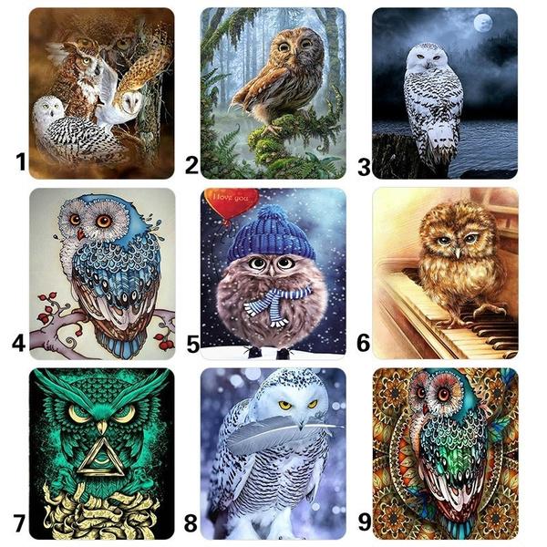 birddiamondpainting, Owl, DIAMOND, Animal
