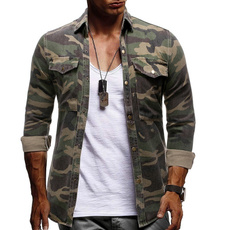 Fashion, mensdenimshirt, Shirt, long sleeved shirt