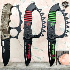 Brass, pocketknife, Folding Knives, knuckleknife