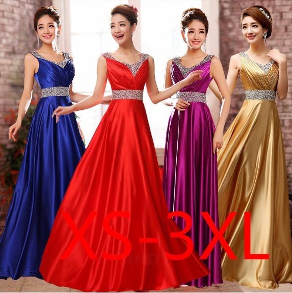 Deep V-Neck, Evening Dress, Pleated, slim