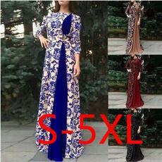 printed, Sleeve, long dress, Dress