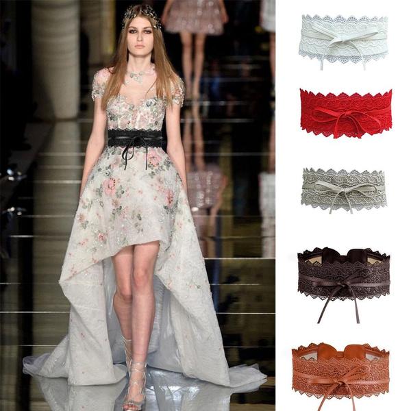 wedding belts, bowknot, wide belt, Fashion