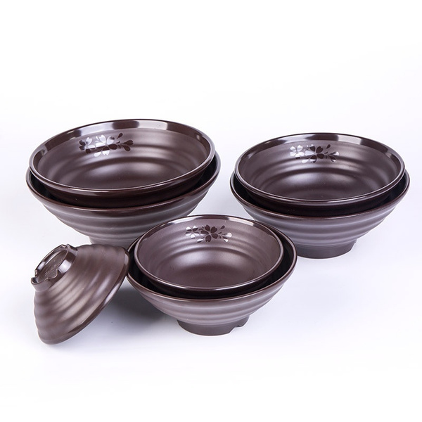 brown, melamine, Plates, Cherry