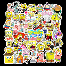 piestarsticker, suitcasesticker, Sponge Bob, Waterproof