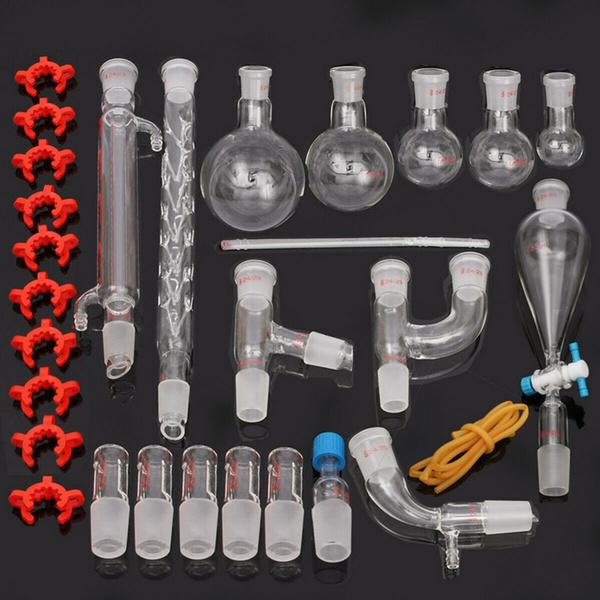 distillationapparatu, distillationkit, laboratorysupply, Flasks