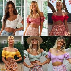 Women, Shorts, Sexy Top, europeanandamericanstyle