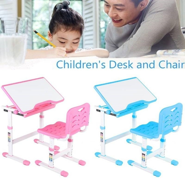 Adjustable Kid Desk And Chair Set Children Study Table For Students Wish