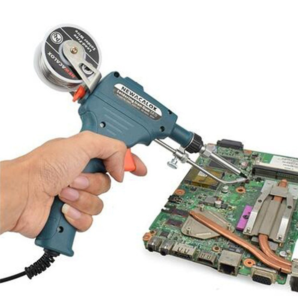 NEWACALOX 60W Internal Heat Soldering Iron gun Auto Send Tin Gun Welding Repair