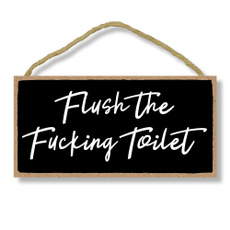 toilethanging, Funny, Bathroom, doorsign