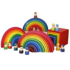 rainbow, Toy, Colorful, woodenrainbowblockstoy