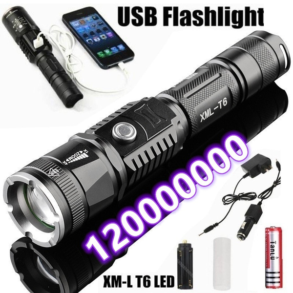 Flashlight, led, 18650, Phone