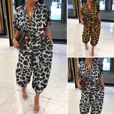 casualjumpsuit, Plus Size, leopardprintromper, leopard print