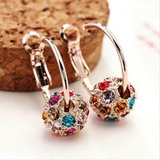 DIAMOND, Jewelry, Colorful, Stud Earring