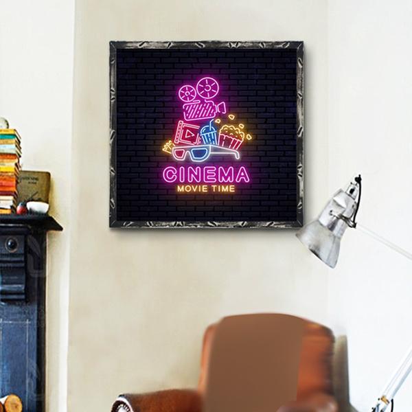 Theater Cinema Movie Room Wall Art Canvas Decor Decorations Handmade Products