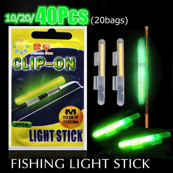 20x Fishing Lights Night Fluorescent Glow Stick Lightstick Clip-on Rod 4sizes TK