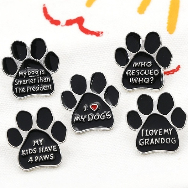 dogfootprintbrooch, Fashion, Jewelry, Gifts