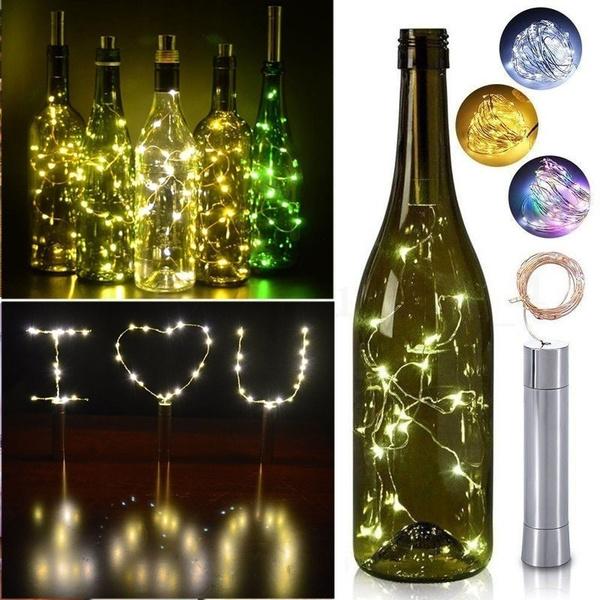 Copper, Decor, Night Light, winebottle