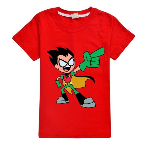 kidstopstshirt, teentitansgo, Shirt, Sleeve
