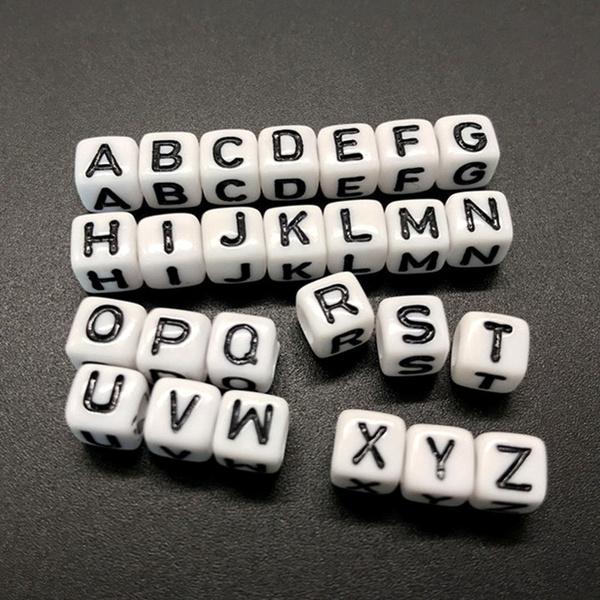beadsforjewelrymaking, acrylicbead, Jewelry, letterbead