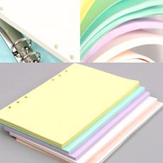 School, looseleaf, indexpage, Colorful