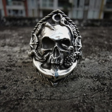 Fashion, compassring, piratering, Stainless Steel