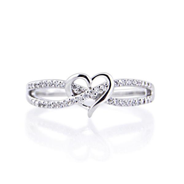 Silver hearts, Heart, DIAMOND, Infinity