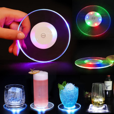 Coasters, Cocktail, ledcupholderlight, barcuppad