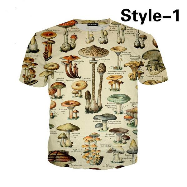 Summer, Fashion, Mushroom, short sleeves