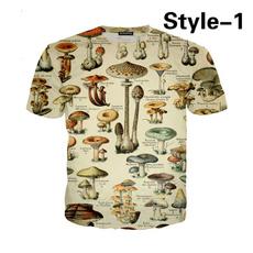 Summer, Moda, Mushroom, short sleeves