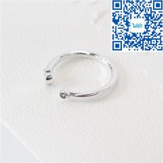 Sterling, Heart, Engagement Wedding Ring Set, polished