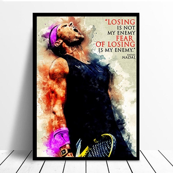Art Poster Wall Art Picture On Canvas Print Home Wall Decoration Gift Print Poster Rafael Nadal Wish