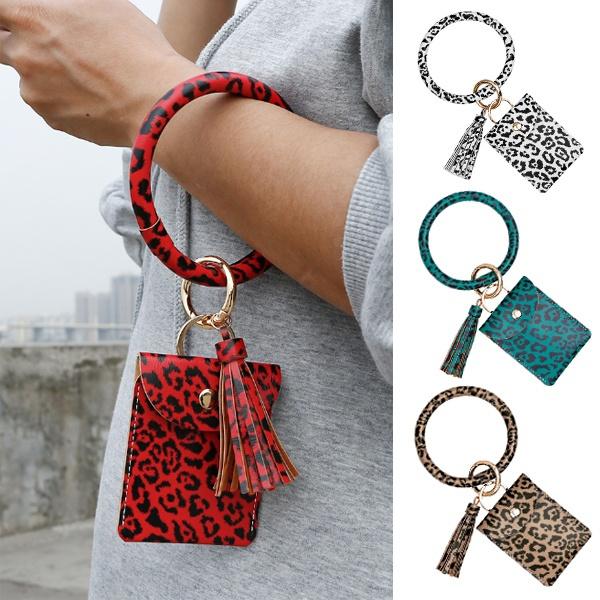 braceletkeychain, purses, Leopard, wristpendant