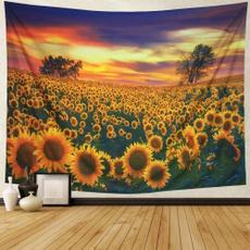 Decor, roomdivider, walltapestry, Sunflowers