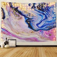 golden, roomdivider, art, walltapestry