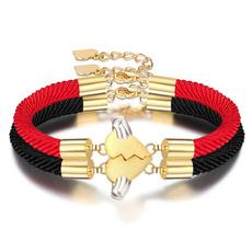 womanfashionbracelet, Fashion, stitchingheartshapedcouplebracelet, Jewelry