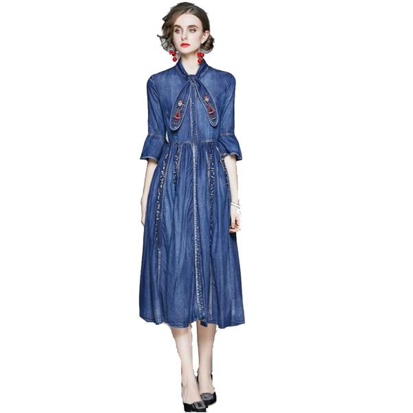 ruffle, Denim, embroideryunderwear, cheapbeltsleatherbeltembroideryblanksdresse
