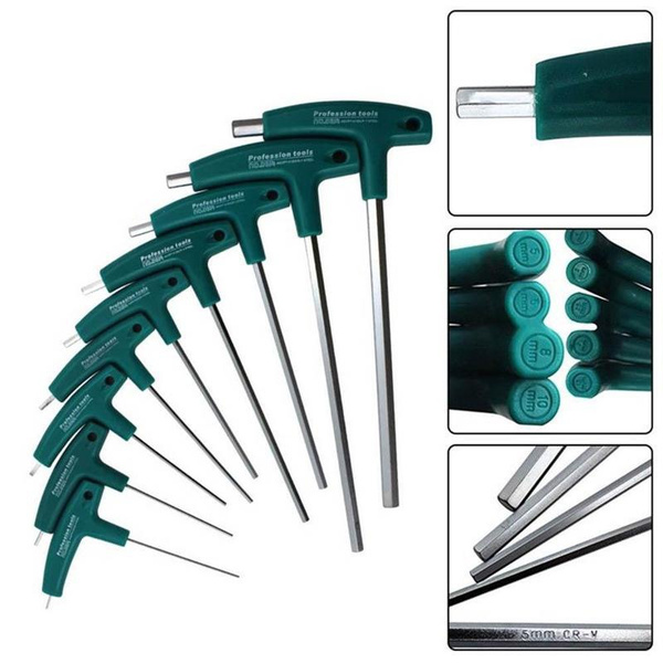 T-Handle Hex Set Allen Screwdriver Bit Metal Key Screw Wrench New2019 Tool O5X0