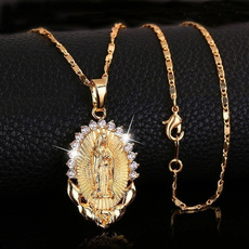 goldplated, gold, goldnecklaceforwomen, religiousnecklace