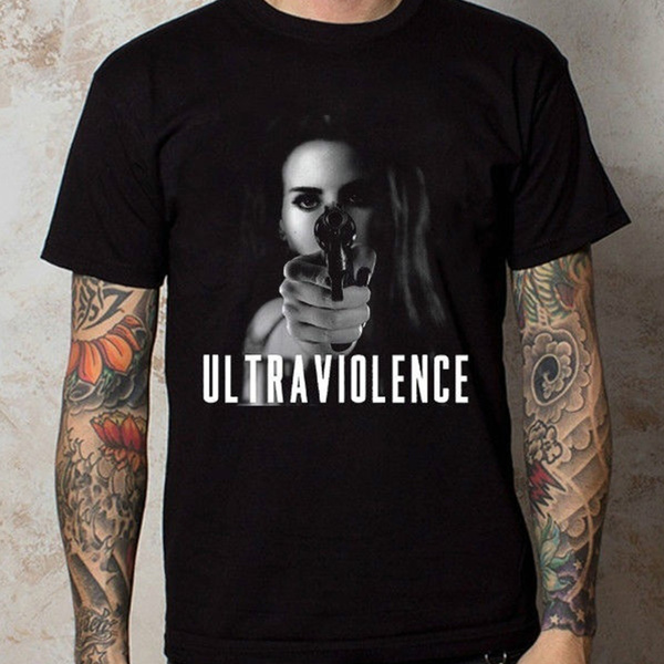 Lana Del Rey Ultraviolence Logo Black Tumblr Tee Fashion Men Women Tops T Shirt Wish