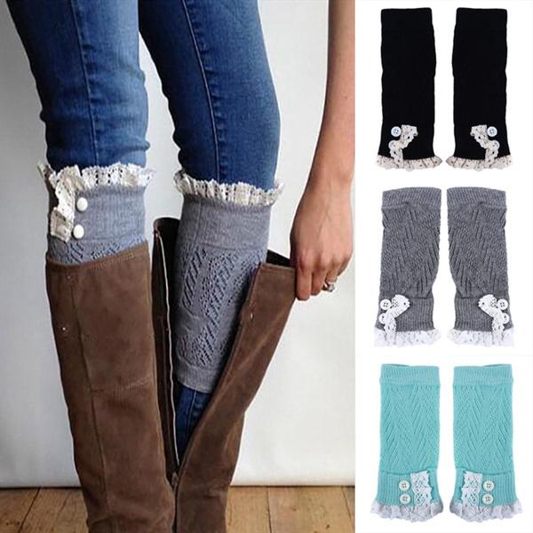 leggingssock, lace trim, Fashion, Lace
