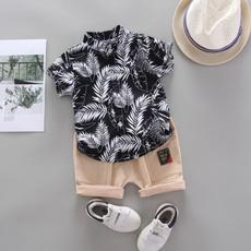 summerbabysuit, 2pcsoutfit, Sleeve, childrenclothe