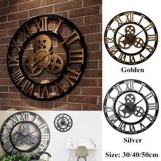 chicwallclock, Decor, Clock, romannumberwatch