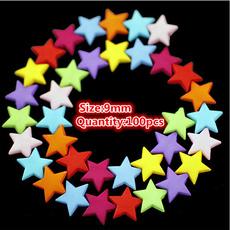 rainbow, acrylicbead, Abs, Star
