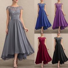 Fashion, pleated dress, Lace, Chiffon Dresses