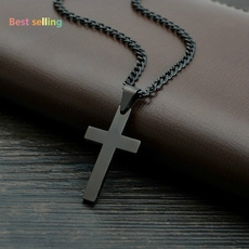 Steel, Cross necklace, Cross Pendant, Vintage